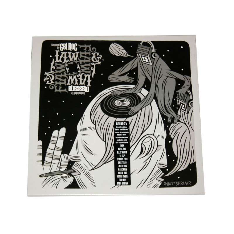 Gel Roc's debut solo album, Laws & Flaws (produced by Mascaria) is a conglomerate of ideas and idioms from the mind of Gel Roc.