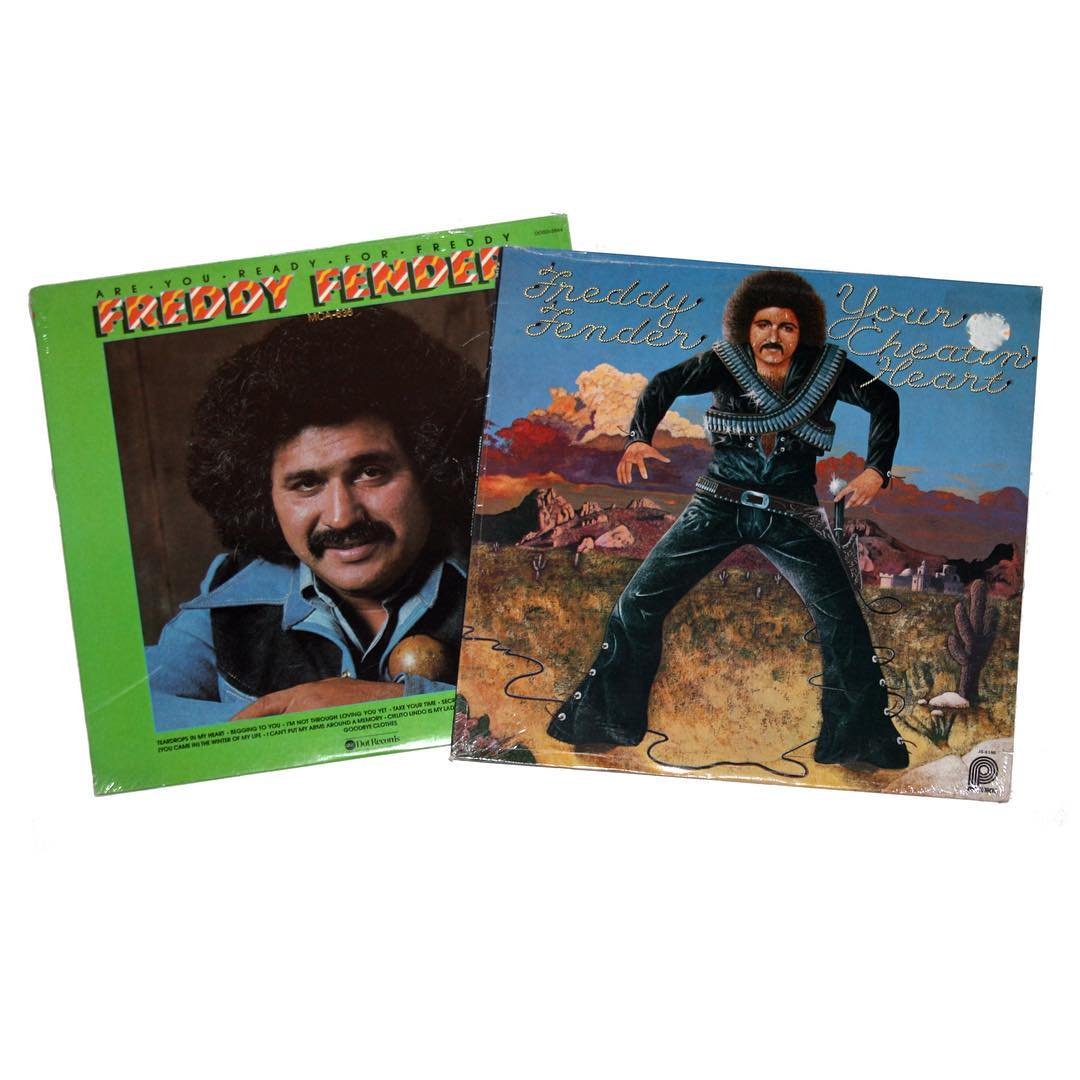 Lot of (2) Freddy Fender Albums