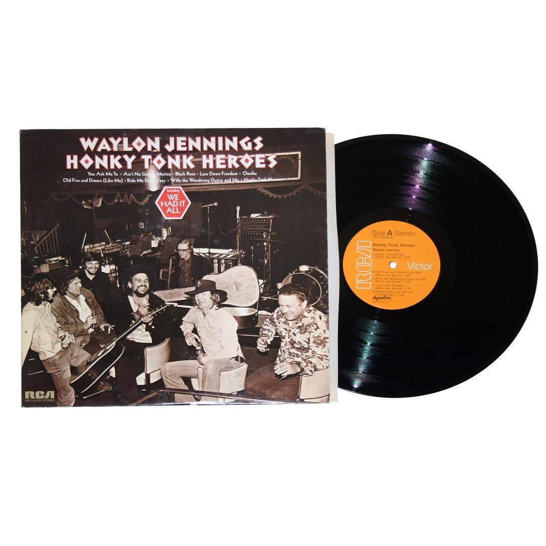 Waylon Jennings Honky Tonk Heroes Phonodelic